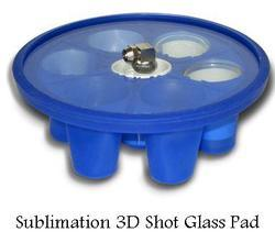 3D Shot Glass Pad  Vodka Glass Attachment