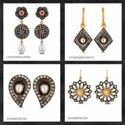 CZ Gemstone Earrings