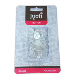 Jyoti Button - White