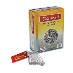 Diamond Safety Pin - Steel- Nickel
