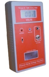 Human Body Voltage Checker with Alarm