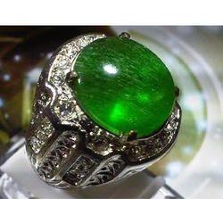 Green Transparent Akik Ring