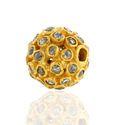 18k Yellow Gold Diamond Bead Finding Ball