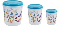 3 Printed Home Keeper Containers Set
