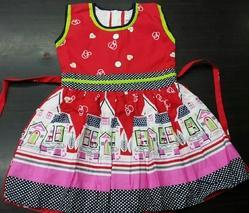 print cotton baby frock
