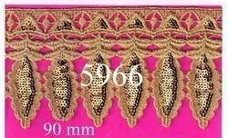 Latest Elegant and Designer Fancy Gold Zari Lace