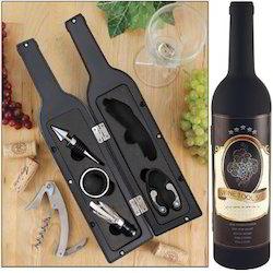 Wine Tool Set in Bottle Shape