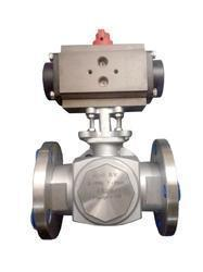Ball Valve - 3 Way Flange End Actuator Operated
