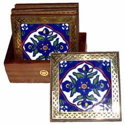 Blue Pottery T-Coaster