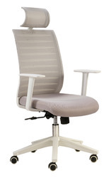White Mesh Chair with Headrest