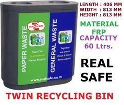 Twin Recycling Bins