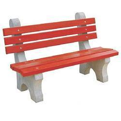 Concrete Garden Furniture   RCC Garden Bench With Arm Rest Manufacturer  From Gurgaon