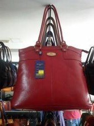 Red Leather Ladies Bags