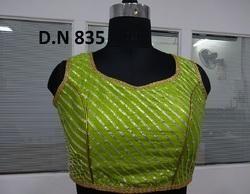 Green Silk Dhupion Stitched Blouse