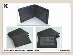 Leather Khisa Wallet - Brown Color