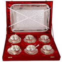 Silver Plated Cup and Saucer Set