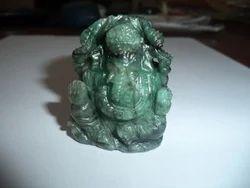 Ganpati Gemstone Statue of Emerald