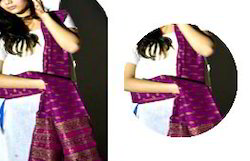 Purple Meheshwari Gold Printed Dupatta