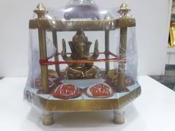 Brass Made Asth Ganesh Ganpati Chowki Yantra
