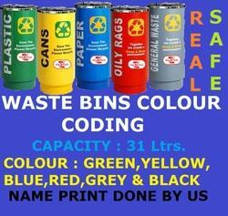 Colour Coading Waste Bin