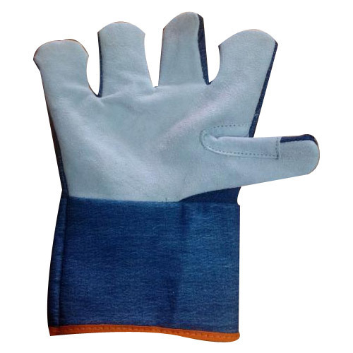 Half Leather Jeans Glove