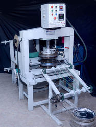 Click to Zoom & Automatic Paper Thali Making Machine - Fully Automatic Thali u0026 Dona ...