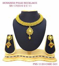 Polki Kundan Drops Necklace Set