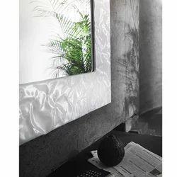 Particolare Muro Rettangolare Laccato Bianco Bathroom Mirror