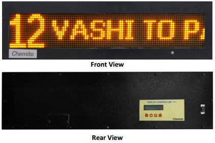 Passenger Information System Led Bus Stop Display