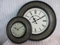 Decorative Wooden Brass Fitted Clock