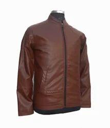Mens Leather Faux Jacket