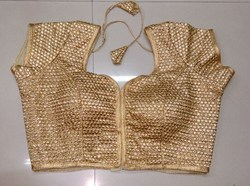Golden Embroidered Fancy Blouse