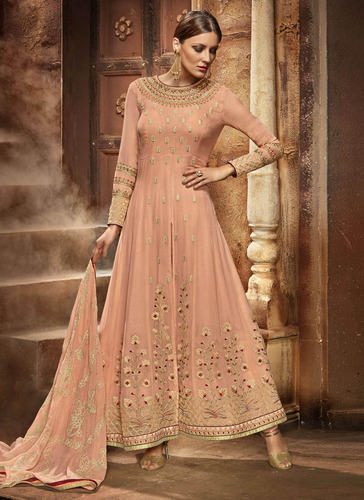 Shaded Georgette Anarkali Suit