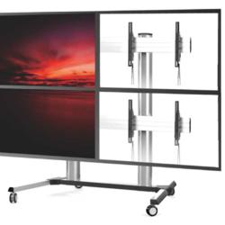 Four Screens Video Wall Cart