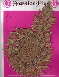 Applique Gold Zari Fancy Work Patch