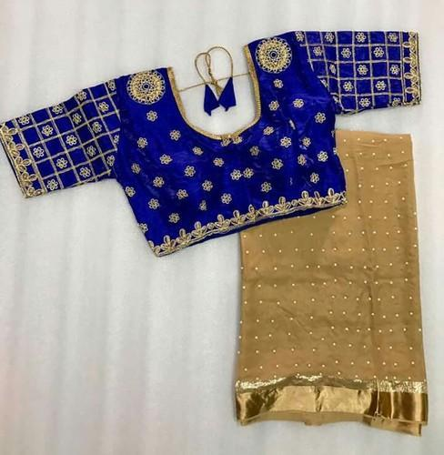 Pure Georgette Saree Pure Georgette Saree With Ready Made Blouse