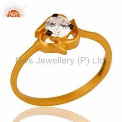 Handmade Gold Plated CZ Fashion Ring