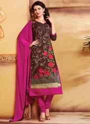 Churidar Suit with Dark Pink Dupatta
