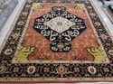 Hand Knotted Serapi Design Woolen Pile Carpet