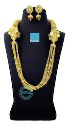 Antique Kundan Mala Necklace Set
