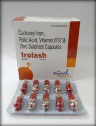 Carbonyl Iron Folic Acid Zinc Sulphate Capsules