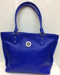 Ladies Leather Bag In Blue