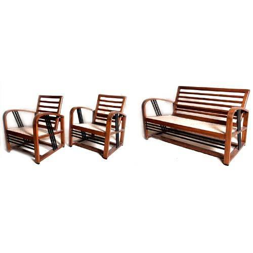 Art Deco Furniture - Teak Art Deco Sofa Set Exporter from Mumbai