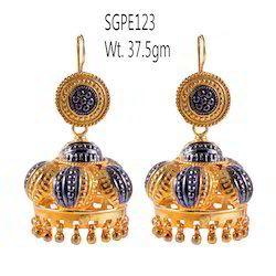 Gold Plated 925 Sterling Silver Earring
