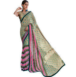 Stripped Print Saree