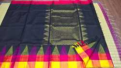 Silk Cotton Korvai Big Temple Border Sarees