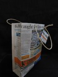 Custom Made  News Paper Bags With Paper Rope Handles