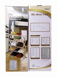 Portable 5 Tier Shoe Rack Shelf - Holds upto 15 Pairs