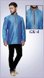 Gents Blue Ethnic Indian Kurti
