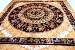 Indian Mandala , Elephant Tapestry Wall Hanging